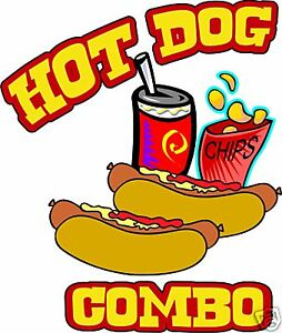 Concession Hot Dogs Decal 7 Cart Food Truck Restaurant Vinyl Sign Sticker