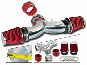 Dual Twin Air Intake Kit Red Filter 94 96 Chevy Impala Ss Caprice 4 3l 5 7l V8