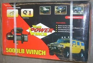 Wood Power 5000 Lb Electric Winch 1 8 Hp 12v