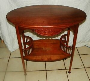 Solid Cherry Carved Oval End Table Parlor Table Rp T181