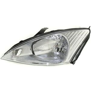 Headlight For 2000 2001 2002 Ford Focus Left Clear Lens With Bulb