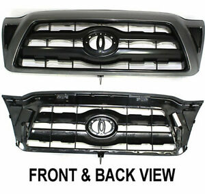 Grille For 2005 2011 Toyota Tacoma Black Shell Plastic Paint To Match