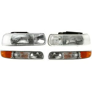 Headlight Kit For 1999 2002 Chevrolet Silverado 1500 Left And Right 4pc