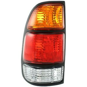 Halogen Tail Light For 2000 2006 Toyota Tundra Regular Access Cab Left W Bulbs