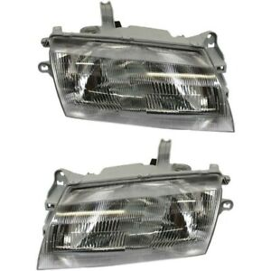 Halogen Headlight Set For 1997 1998 Mazda Protege Left Right W Bulb S Pair
