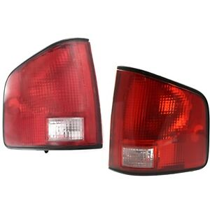 Halogen Tail Light Set For 1994 2004 Chevy S10 Left Right Clear Red Lens 2pcs