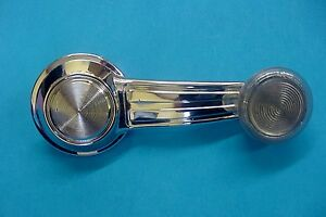 Oldsmobile Gm Chrome Manual Door Window Crank Handle Roller Clear Knob Nos R