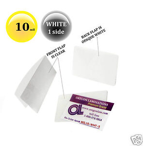 Hot Laminating Pouches 2 5 8 X 3 7 8 Military Card pk 500 10 Mil Clear white