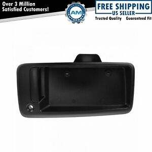 Door Handle Black Textured W Plate Housing Exterior Rear Rh Right For Chevy Gmc