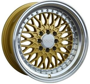 16x8 Xxr 536 Wheels 4x100 114 3 20mm Gold Rim Fits Honda Civic Accrod Fit