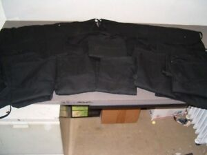 Lot Of 15 Black Bar Aprons With 2 Front Pockets New