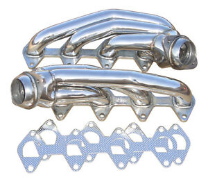 2005 2010 Ford Mustang Gt 4 6 Pypes Polished Stainless Short Shorty Headers