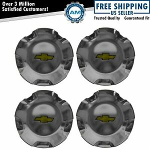 Gm 9596007 Wheel Center Cap Polished Kit Set Of 4 For Avalanche Suburban Tahoe