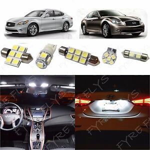 11x White Led Light Interior Package For Infiniti M35 M37 M45 Im1w