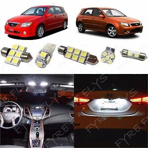 6x White Led Lights Interior Package Kit For 2005 2013 Kia Spectra5 Kp1w