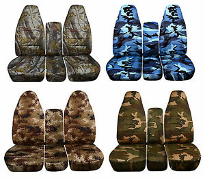 40 20 40 Camo Seat Covers Gmc And Chevrolet Trucks 2003 2006 Integrated Sb