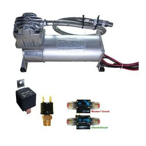 200psi Airmaxxx 380c Air Compressor Air Horn Airbag Suspension Circuit Breaker