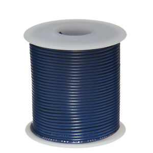 22 Awg Gauge Stranded Hook Up Wire Blue 100 Ft 0 0253 Ul1007 300 Volts