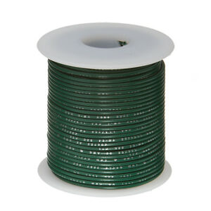 22 Awg Gauge Stranded Hook Up Wire Green 100 Ft 0 0253 Ul1007 300 Volts