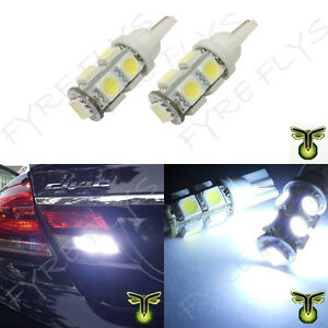 2x Xenon White Led Back Up Reverse Light Bulbs 9 Smd Lamp T10 921 194 R2