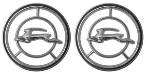 New Trim Parts Front Fender Emblem Pair For 1965 66 Chevy Impala 2425