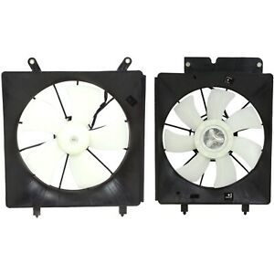 Radiator Ac Condenser Cooling Fan Assembly Pair For 02 06 Honda Cr V Crv