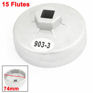74mm 15 Flutes Type 903 3 Car Oil Filter Cartridge Cap Wrench Tool Socket For Gm