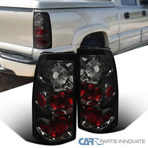 03 07 Silverado Sierra 1500 2500 Pickup Tail Lights Brake Rear Lamps Smoke Pair