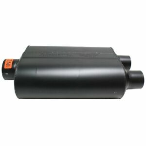 Flowmaster Muffler Super 40 Series 3 Inlet dual 2 1 2 Outlet Steel Black Ea