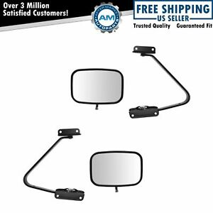 Mirrors Manual Swing Lock 5 X 8 Black Lh Rh Pair For Bronco F150 F250 F350