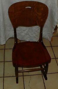 Quartersawn Oak Cherry Sewing Rocker Rocking Chair Bh R182