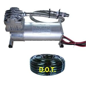 Airmaxim 380c Pewter 200psi Air Compressor Airbag Suspension Horn 25 1 4airhose