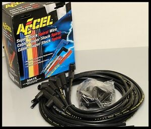 Accel 5000 Spark Plug Wires Sbc 350 383 400 406 For Hei Point 5041 k Clearance
