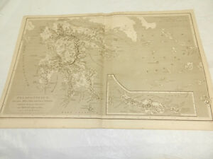 1819 Antique Map Peloponnesus Southern Greece