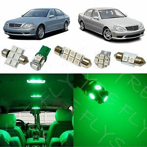 19x Green Led Lights Interior Package Kit For 1998 2006 Mercedes S class Zs1g