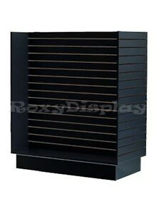 Slatwall H Unit Black Knock Down Display Store Fixture sc h unit bk