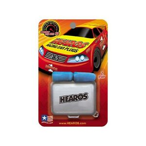 Hearos Racing Ear Plugs Corded With Free Case pack Of 6