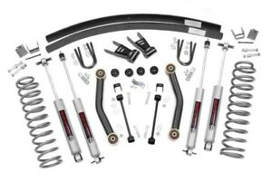 Jeep Cherokee Xj 4 5 Suspension Lift Kit W N3 Shocks 1984 2001 Rough Country
