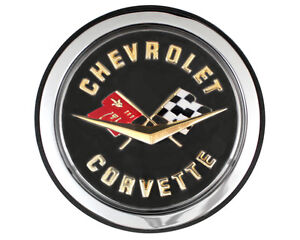 New Trim Parts Rear Crossed flag Emblem Logo For 1962 Chevy Corvette 5087a