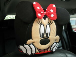 Minnie Mouse Disney Car Suv Accessory red 1 Piece Head Rest Head Seat Cover