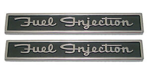 New Front Fender Fuel Injection Emblem Pair For 1962 Chevy Corvette 5157