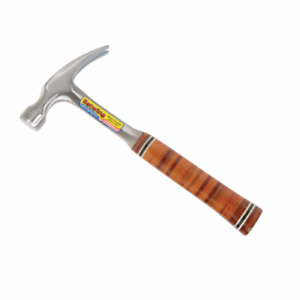 Estwing E12s 12oz Smooth Face Straight Claw Rip Hammer With Genuine Leather Grip