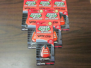 Lot Of 6 Handstands Power Gel Car Vent Clip Air Freshener Very Berry New
