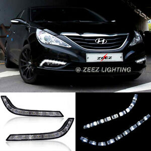 Exact Fit High Power 9 led Daytime Running Light Drl Fog Lamp Kit Sonata 11 14