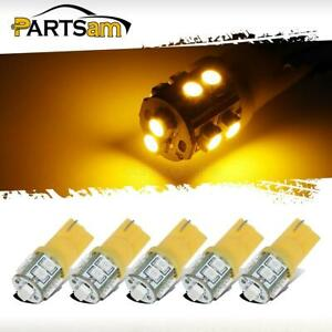 5 194 10 3528 Smd Amber Led Bulb Set For Cab Roof Top Light Marker Running Lamp