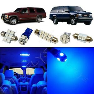 16x Blue Led Lights Interior Package Kit For 1995 1999 Chevy Gmc Suburban Cs2b