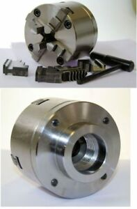 80 Mm 4 Jaw Self Centering Lathe Chuck Threaded 1 1 8 X 12 Tpi To Suit Myford
