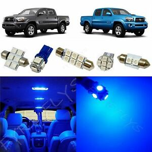5x Blue Led Lights Interior Package Kit For 2005 2014 Toyota Tacoma Tt3b