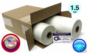 2 Rolls Doculam Hot Laminating Film 12 X 500 X 1 Core 1 5 Mil American Made