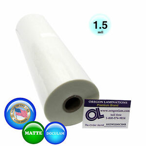 Doculam Hot Laminating Film 12 X 500 On 1 Core 1 5 Mil 1 Roll Matte